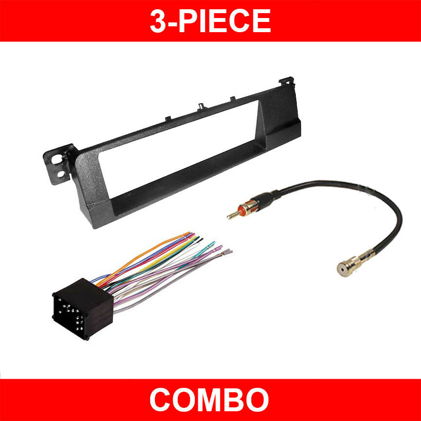 bmw e46 aftermarket radio wiring harness 99-01 bmw 3 series m3 e46 car stereo radio install dash ...