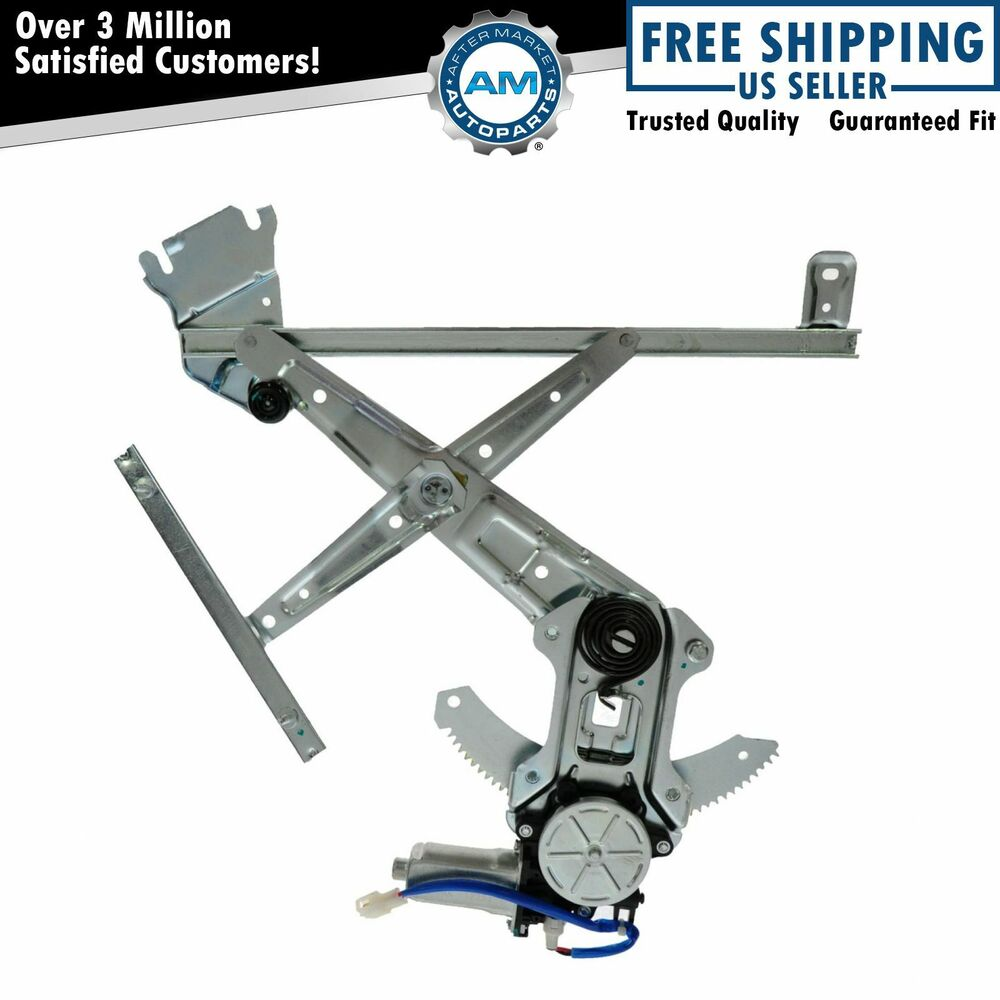 Power window regulator front door lh left driver side for for Window motor repair cost