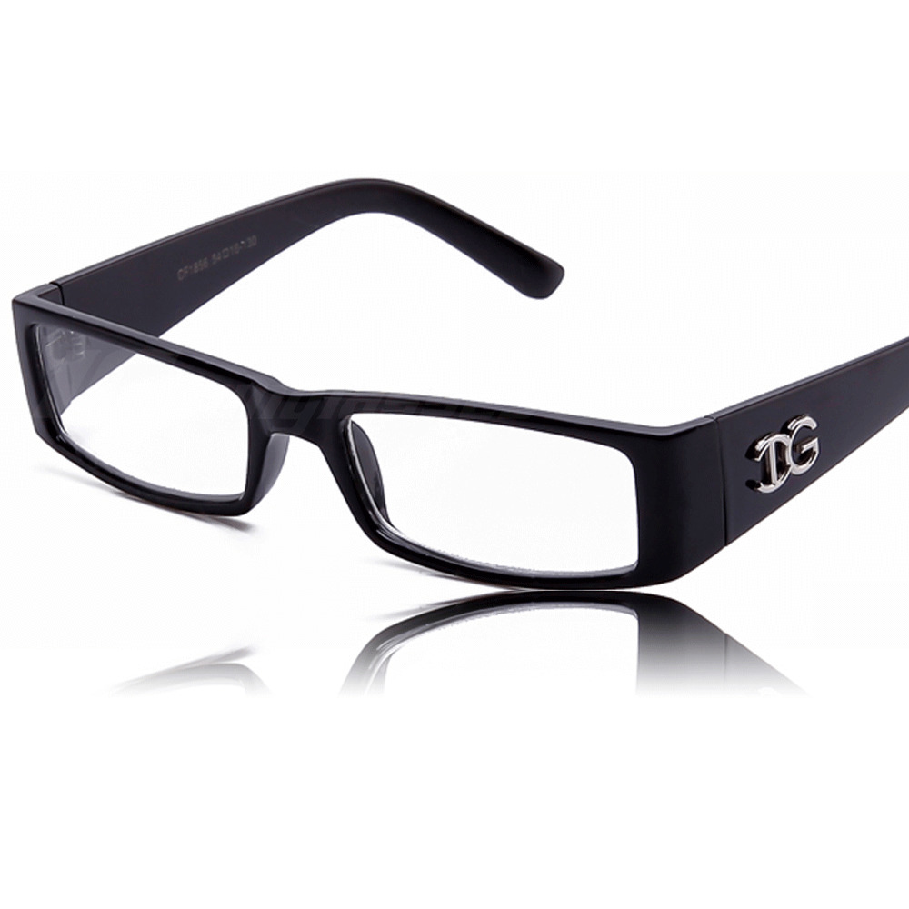New Mens Black Clear Lens Eye-Glasses UV400 Protection ...
