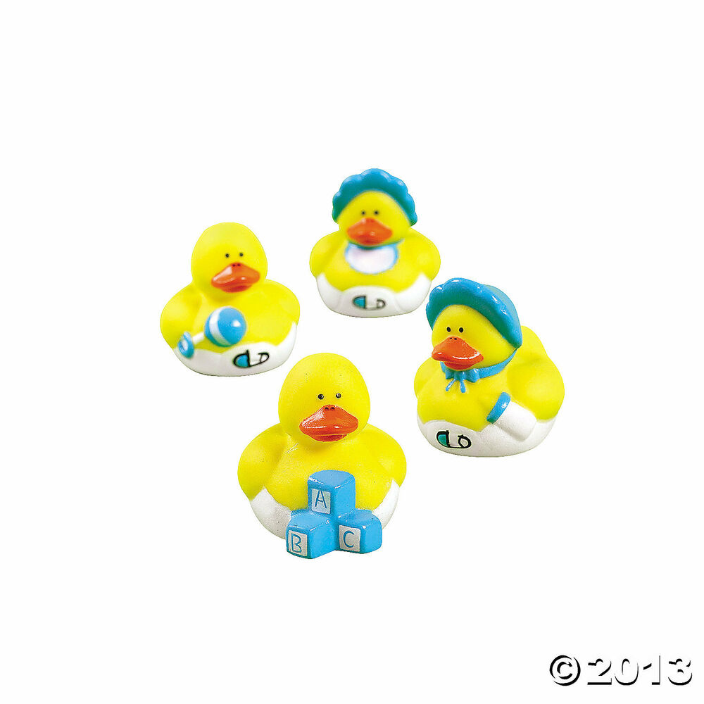 12 baby shower favor mini boy blue rubber ducks ducky ebay