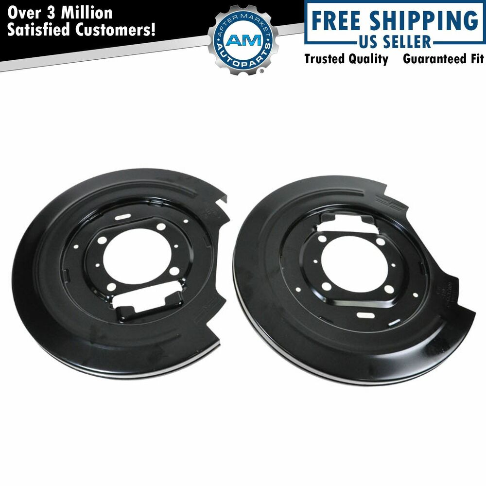 Rear Brake Backing Plate Dust Shield Pair Set For F150
