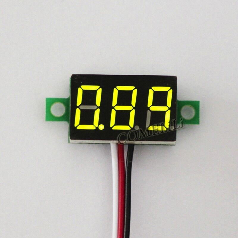 Small Digital Voltmeters Dc : Mini dc v led panel voltage meter digital display