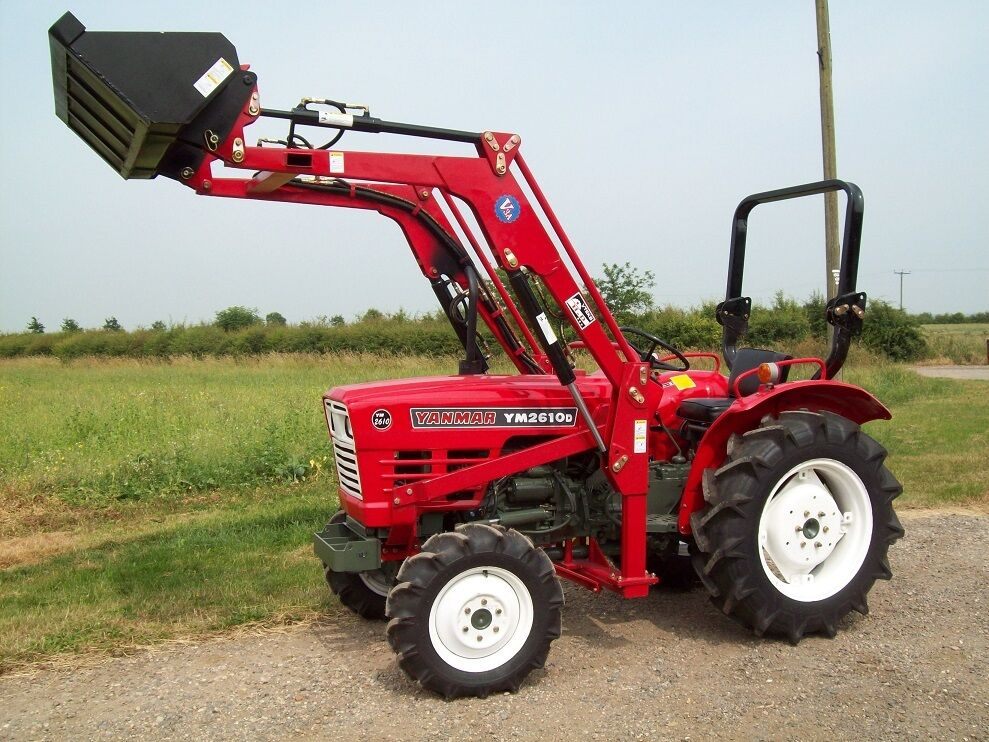 Small Tractors With Loaders : Yanmar hp wd compact tractor with power loader bucket