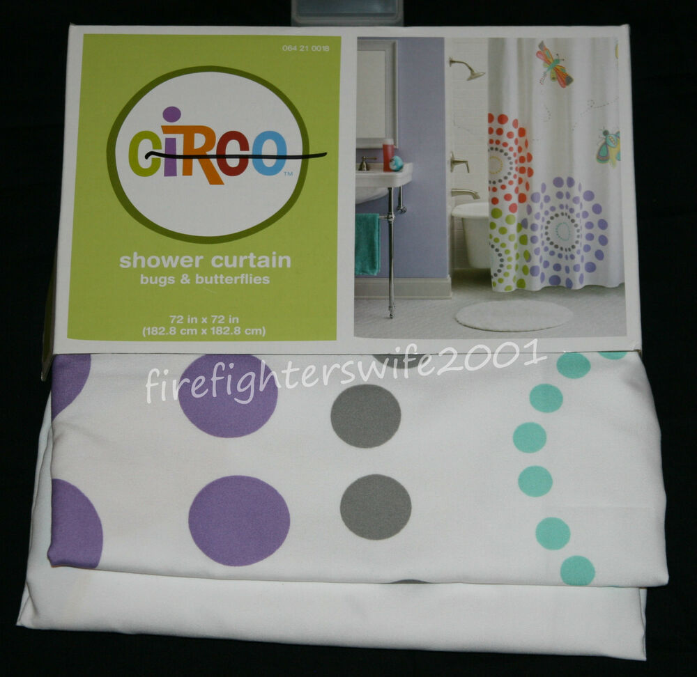 Circo bugs butterflies fabric shower curtain 72x72 for Fabrics for children s curtains