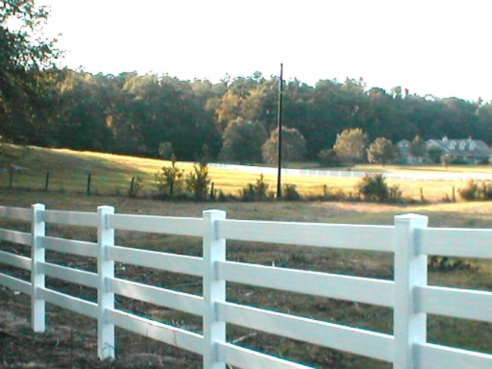 White Or Tan Vinyl Horse Fence 496 Feet Both 3 And 4 Rail