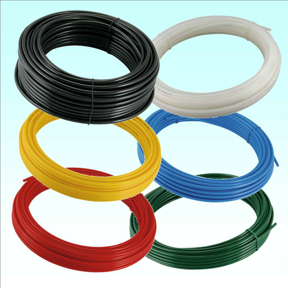 metric flexible nylon pneumatic air line tubing compressed airline plastic pipe ebay. Black Bedroom Furniture Sets. Home Design Ideas