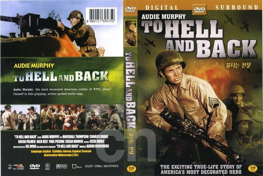 To Hell And Back 1955 Audie Murphy Dvd Ebay