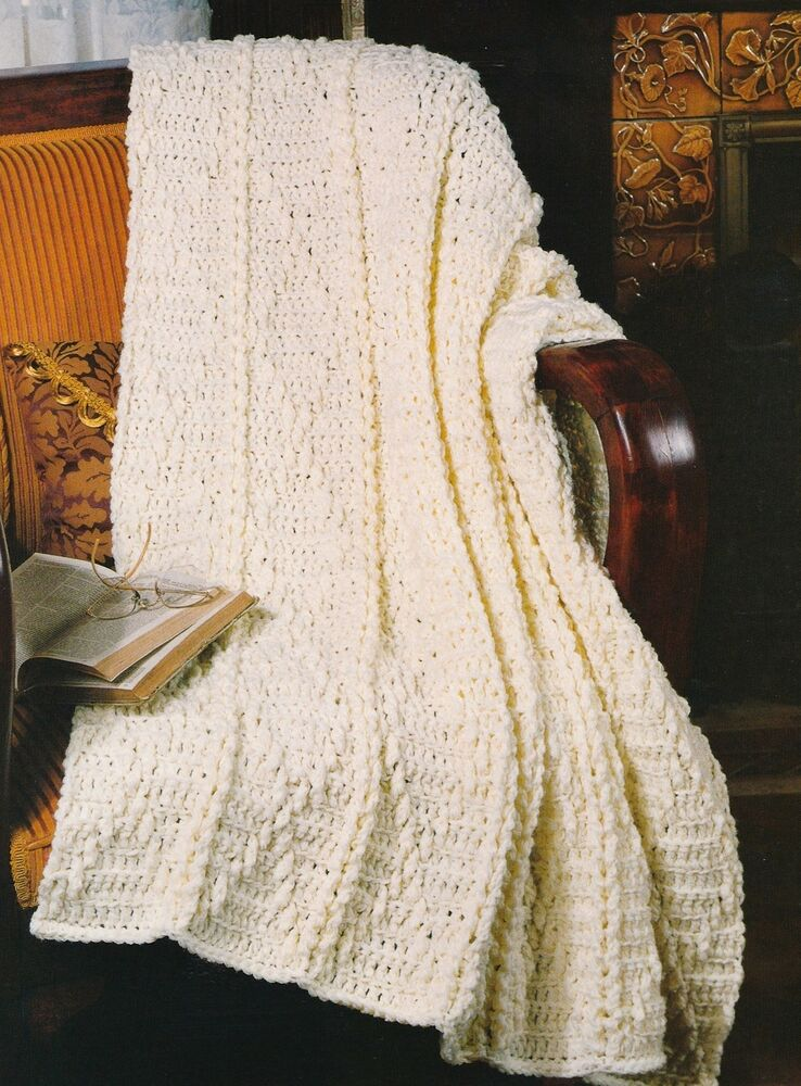 Quick Dandy Diamonds Afghan Crochet Pattern Instructions