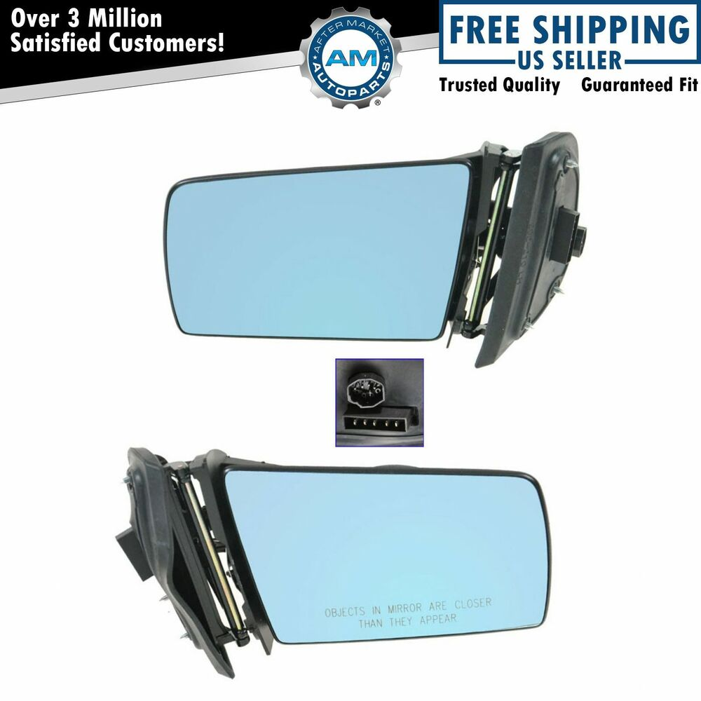 Power heated memory side view mirrors left right pair set for Mercedes benz side mirror