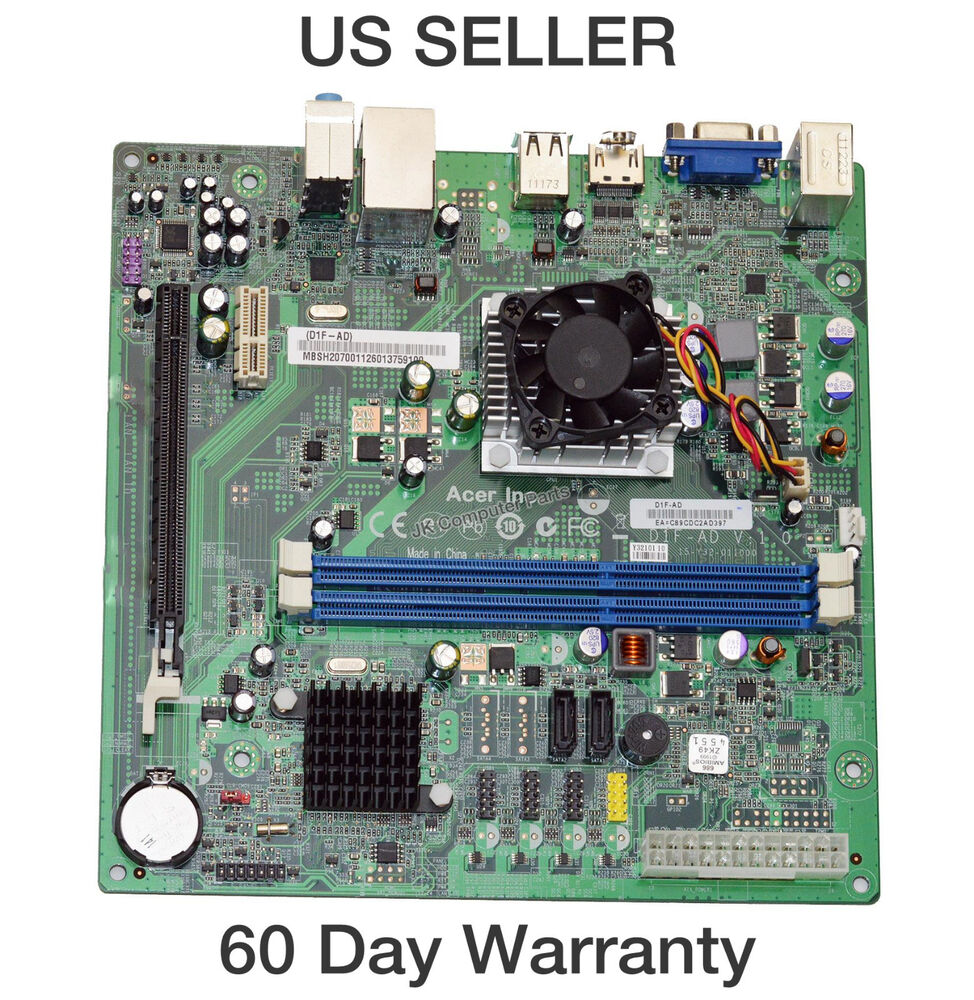 Acer Aspire X1430 Motherboard W/ AMD E-450 1.65GHz CPU MB