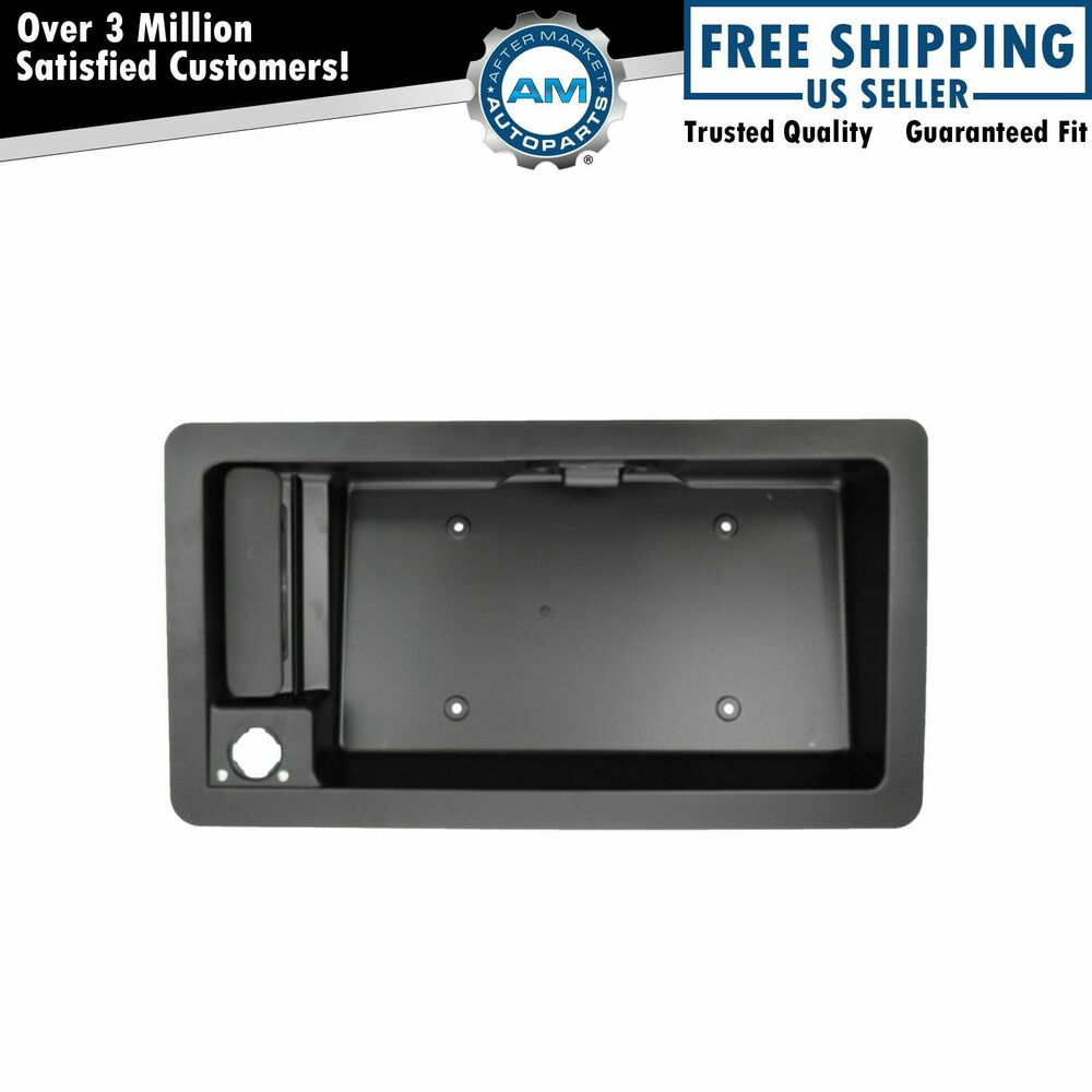 Door handle license plate housing outside rear cargo rh for Rear exterior door