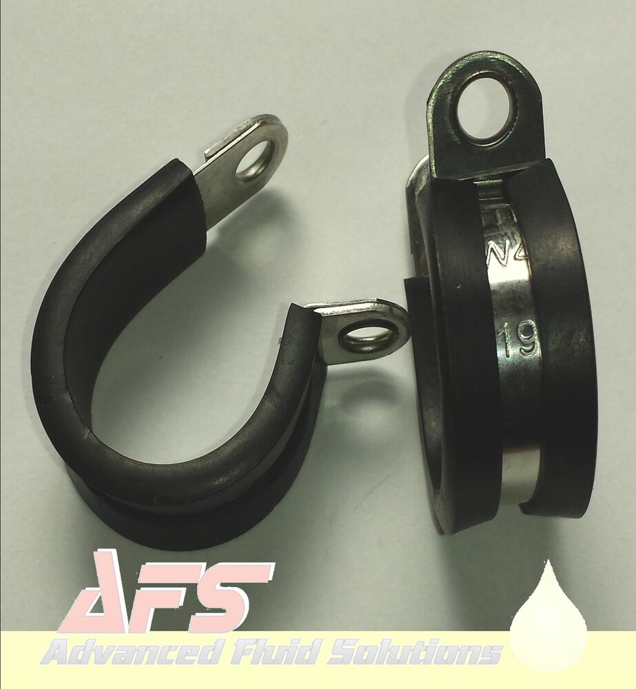 Steel Pipe Clips : Mikalor w stainless steel rubber lined metal p clips pipe