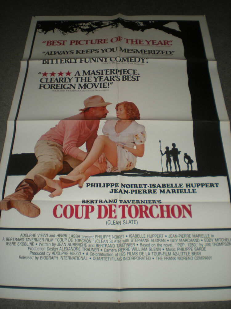 coup de torchon original folded poster isabelle huppert 1981 ebay. Black Bedroom Furniture Sets. Home Design Ideas