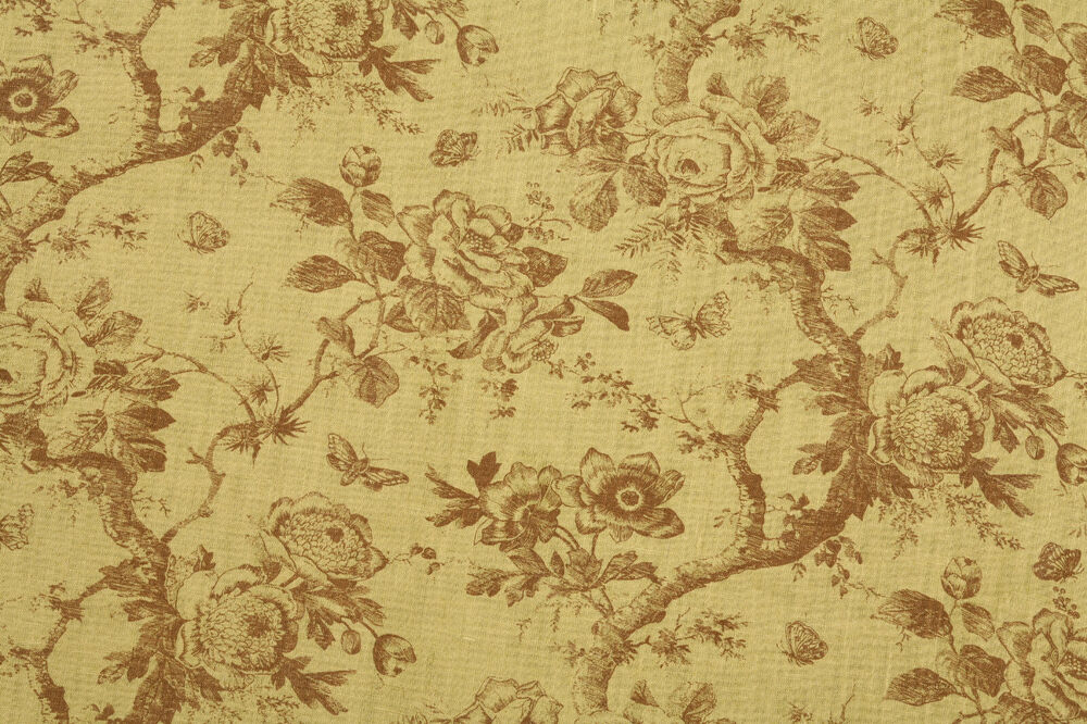 amy karyn floral toile print upholstery fabric botanique green by the yard ebay. Black Bedroom Furniture Sets. Home Design Ideas
