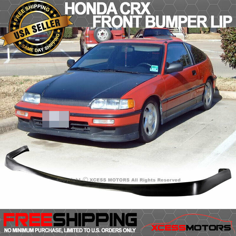 Fit 90 91 Honda Crx Si Sir T R Style Front Bumper Lip