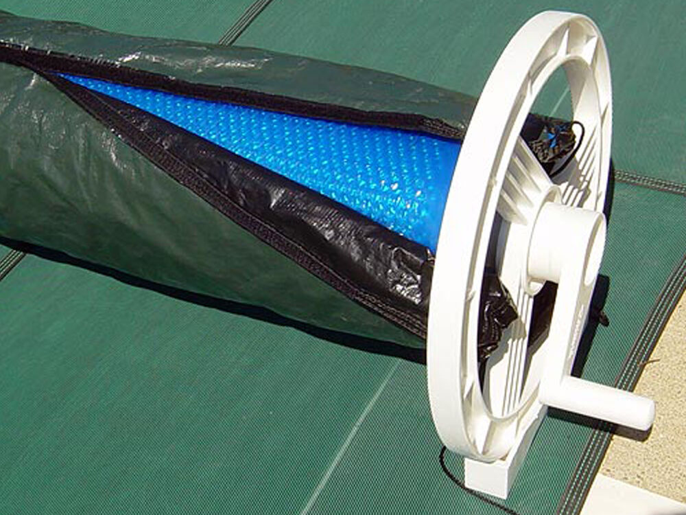 Solar Blanket Winter Cover For Swimming Pool Solar Roller Reel Up To 20 39 Wide Ebay