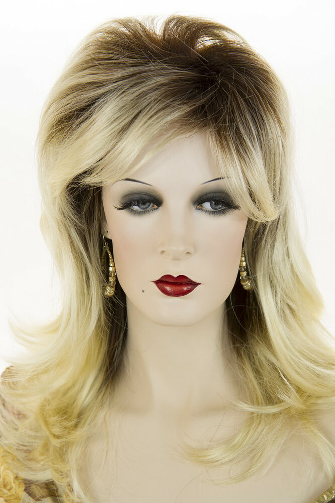 Toast Brown with Pale Blonde Tips Long Medium Wavy ...