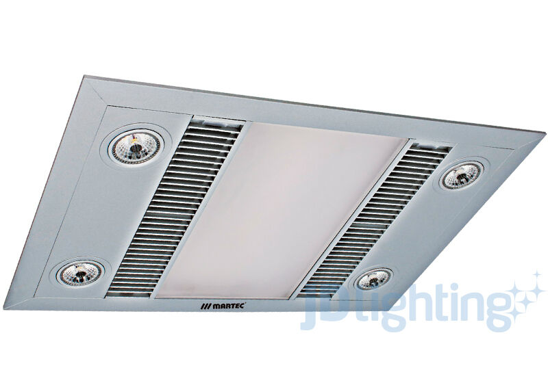 bathroom exhaust fan light heater martec linear silver led 3 in 1 bathroom heater exhaust 22073