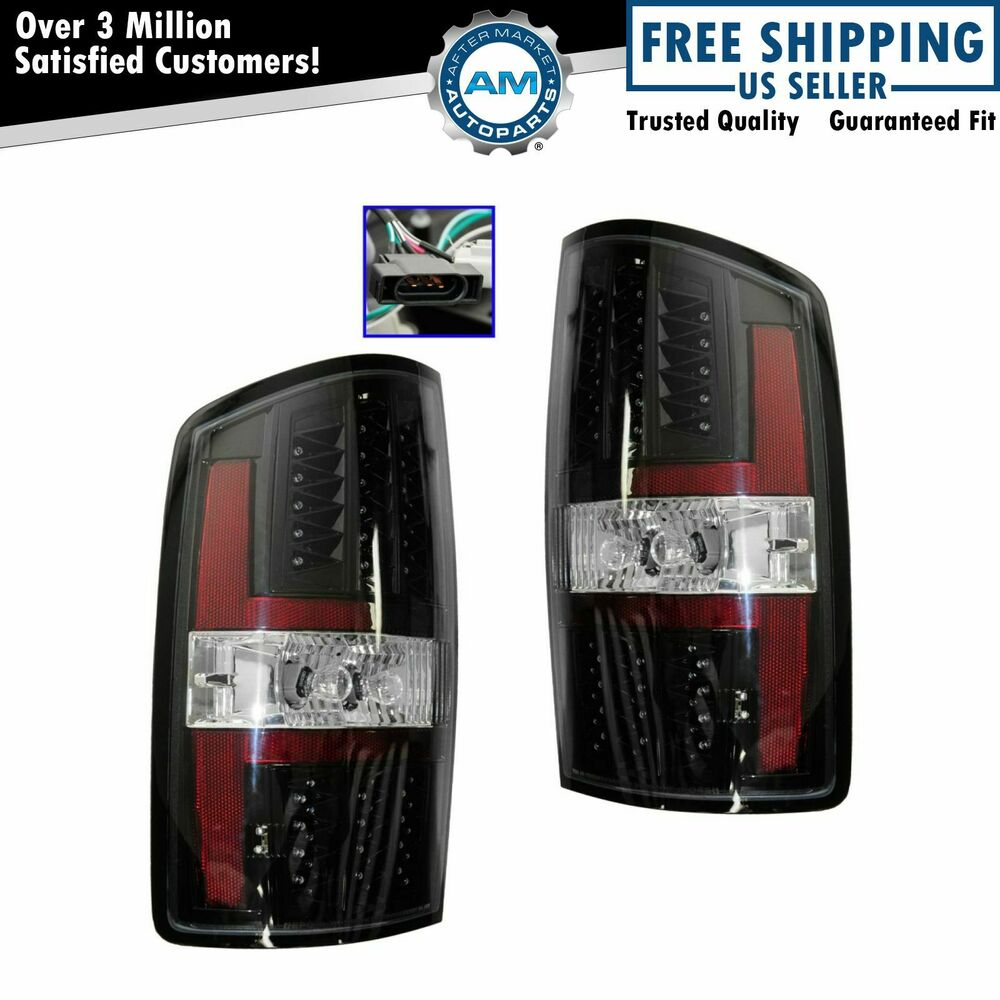 black bezel performance led for dodge ram 1500 2500 3500 new ebay. Black Bedroom Furniture Sets. Home Design Ideas