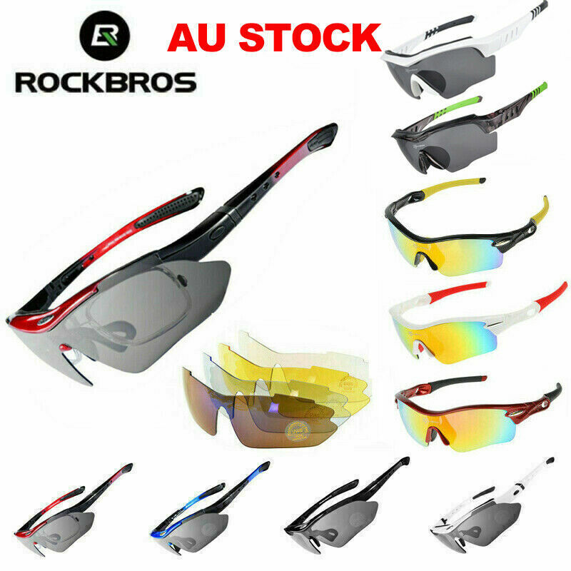 cc3d4da85b Details about RockBros Polarized Cycling Sunglasses Sports Glasses Bike  Bicycle Goggles