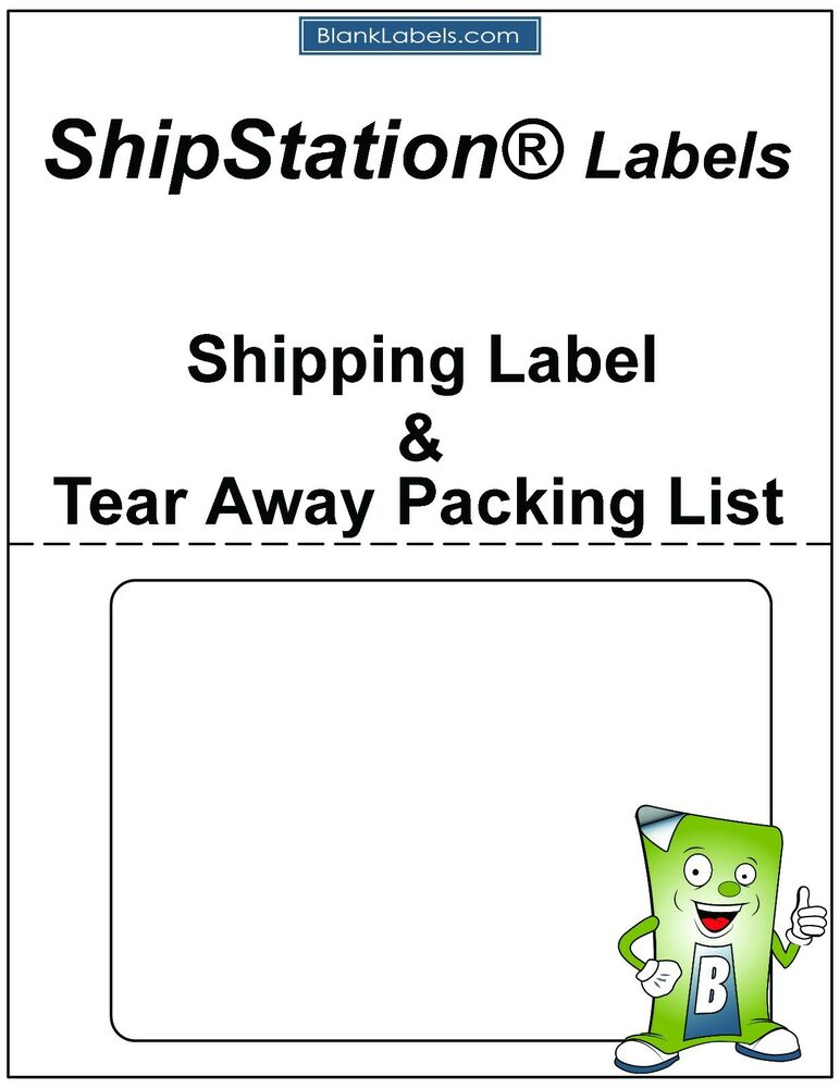 100 Laser / Ink Jet Labels for ShipStation with Tear Off Receipt / Packing  List! 634392387007 | eBay