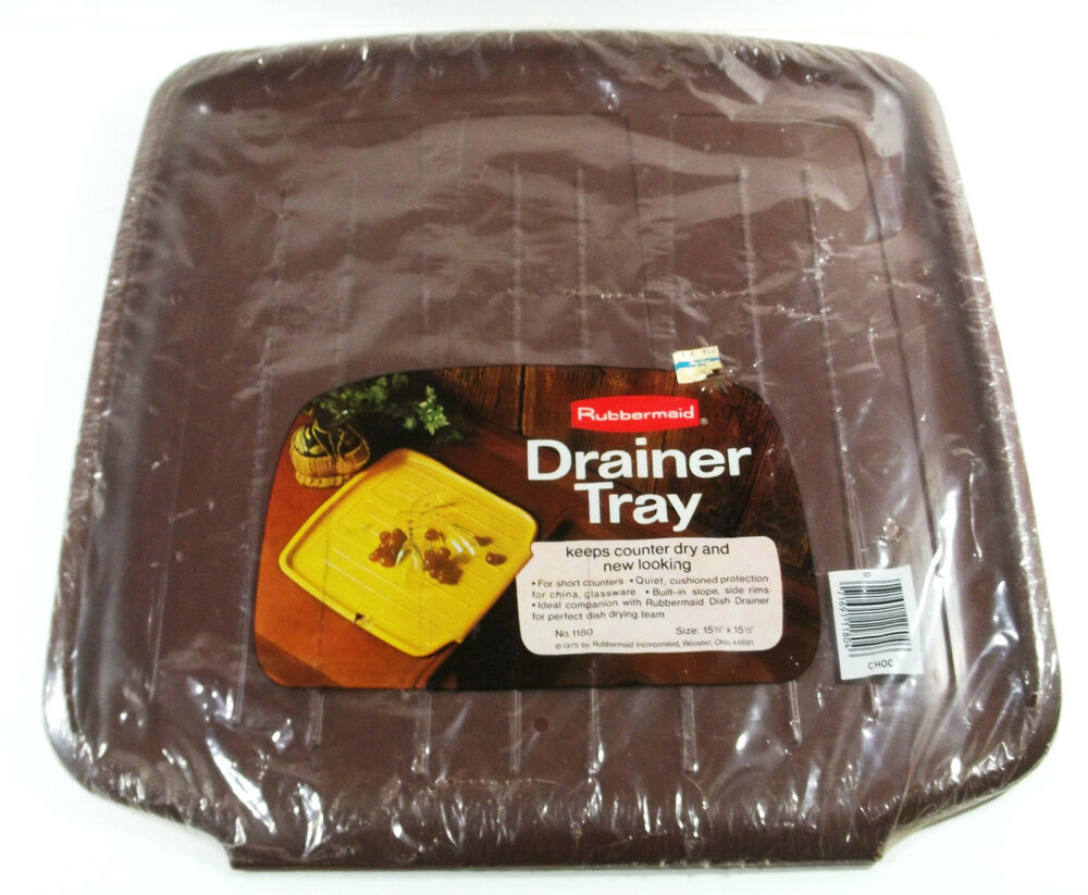 Vintage Rubbermaid Drainer Tray Mat Chocolate Brown 1180