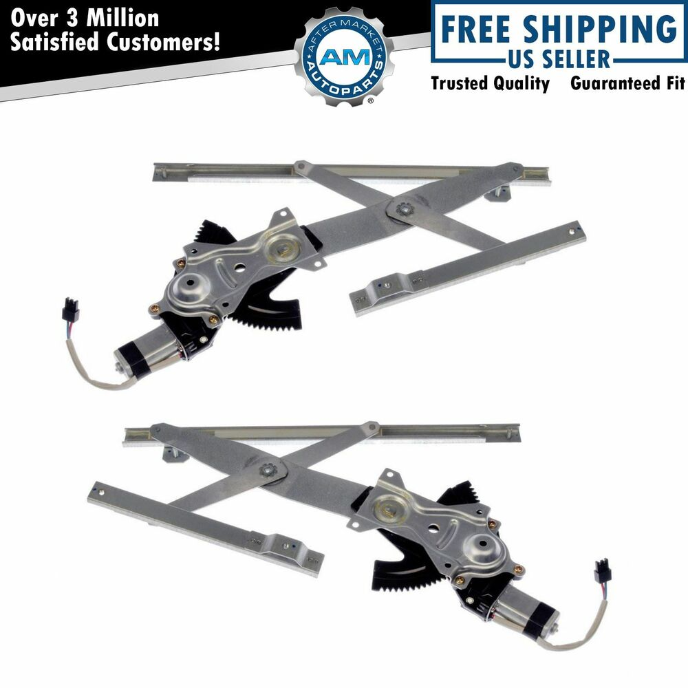 front power window regulators w motors pair set for 95 05