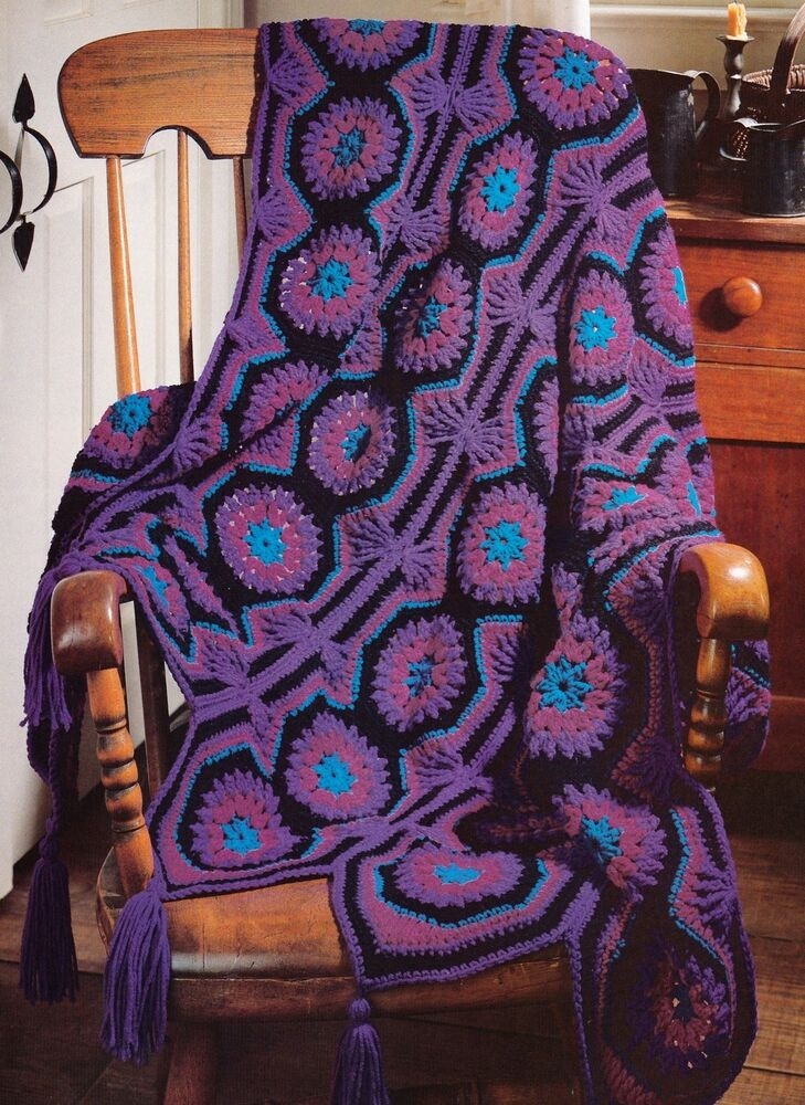 Unusual Radiant Mosaic Afghan Crochet Pattern Instructions