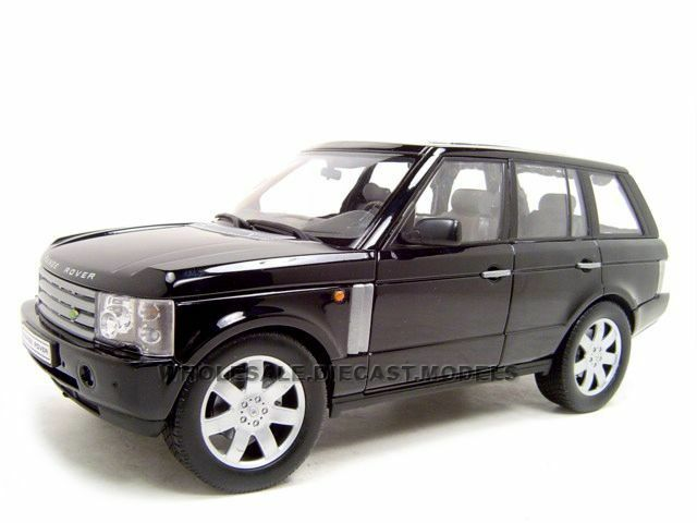 2003 RANGE ROVER BLACK 1:18 DIECAST MODEL CAR BY WELLY ...