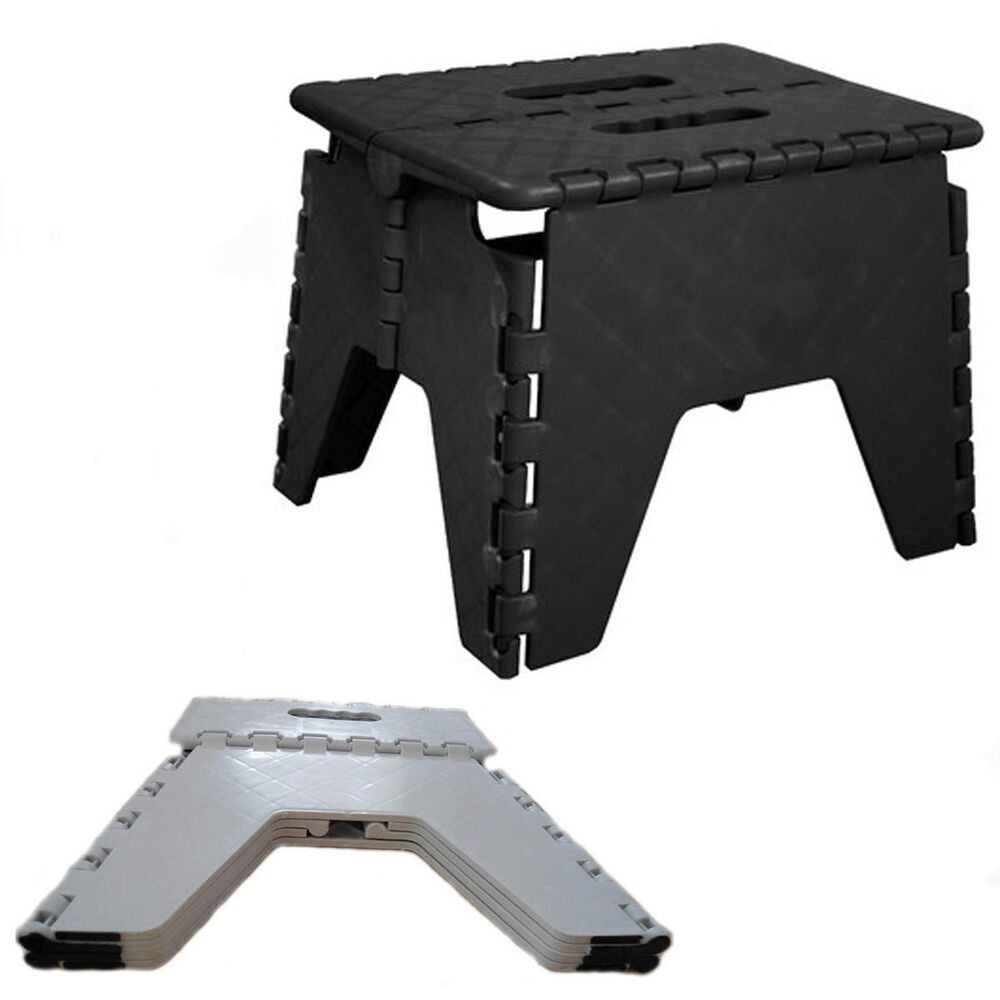 Step Stool Hard Plastic Foldable Home Work Kitchen