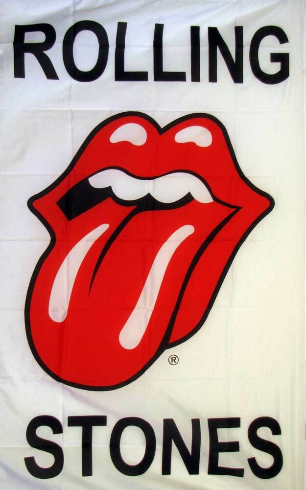 3 X 5 Rolling Stones Polyester Flag W Grommets Banner