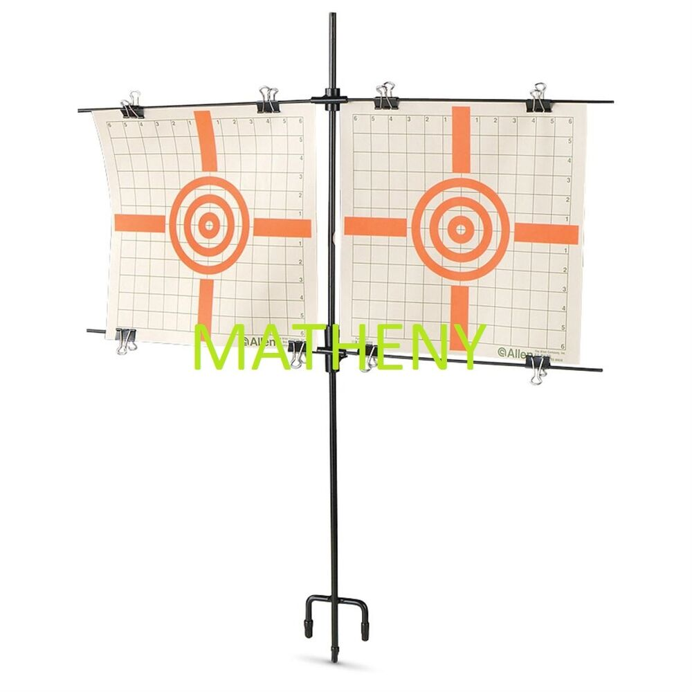 Dual steel paper target holder stand gun shooting sighting ebay