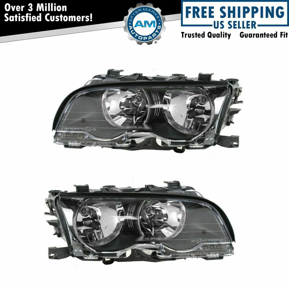 head light lamp pair for 99 01 bmw coupe convertible 323ci. Black Bedroom Furniture Sets. Home Design Ideas