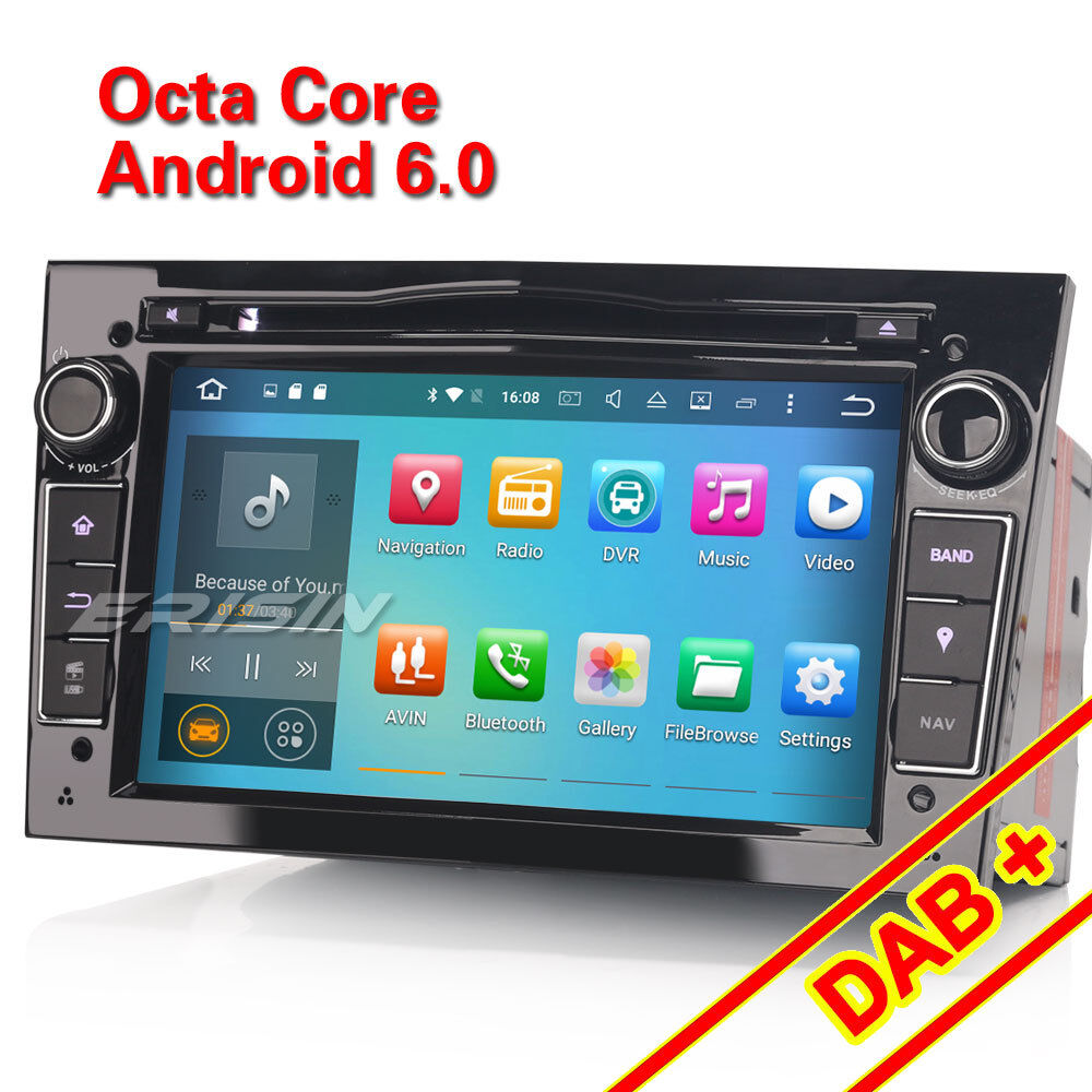 android 6 0 autoradio navi gps dab opel corsa c d vectra c. Black Bedroom Furniture Sets. Home Design Ideas