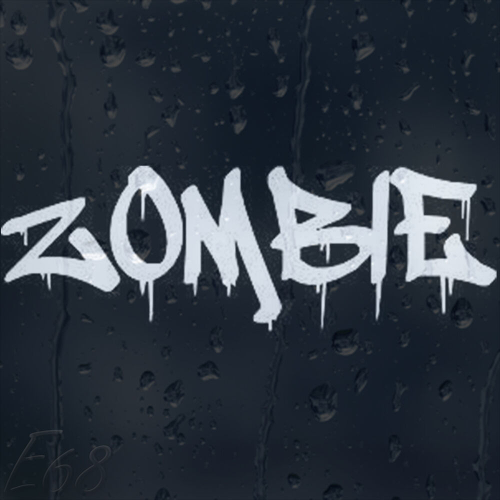 Bloody Zombie Car Decal Vinyl Sticker For Window Panel ...