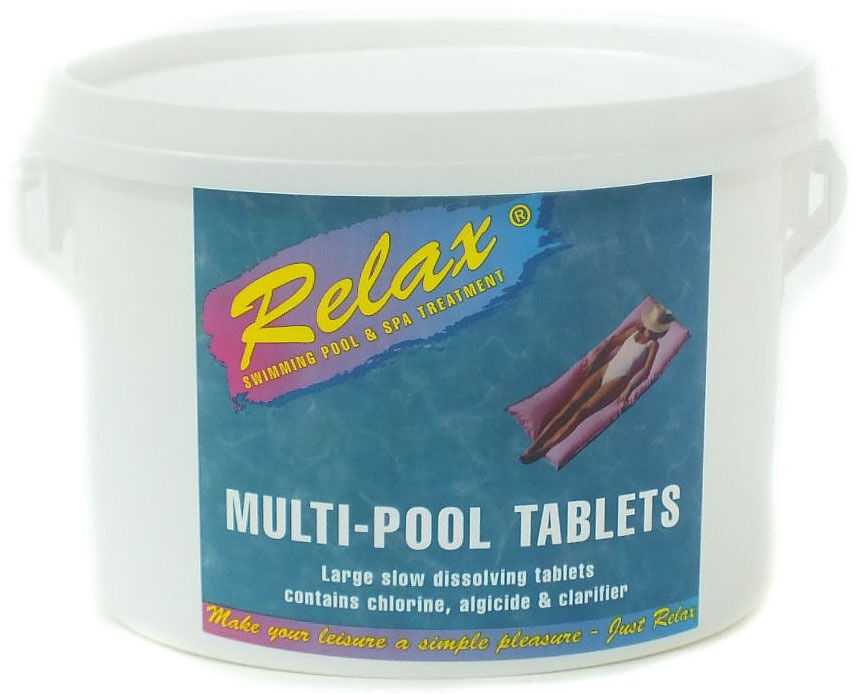 Swimming Pool Chemicals Relax Multifunctional Chlorine Tablets 5kg Ebay