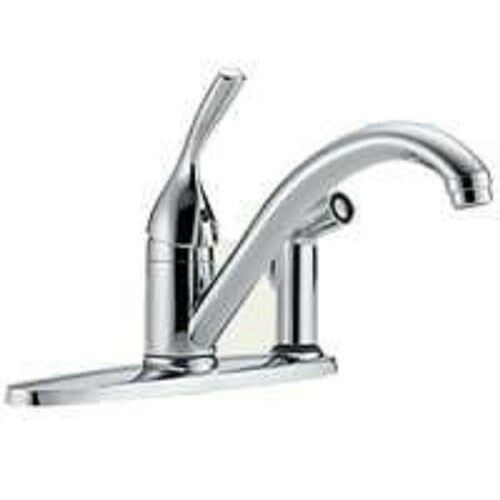 NEW DELTA 300-DST USA MADE SINGLE HANDLE KITCHEN FAUCET