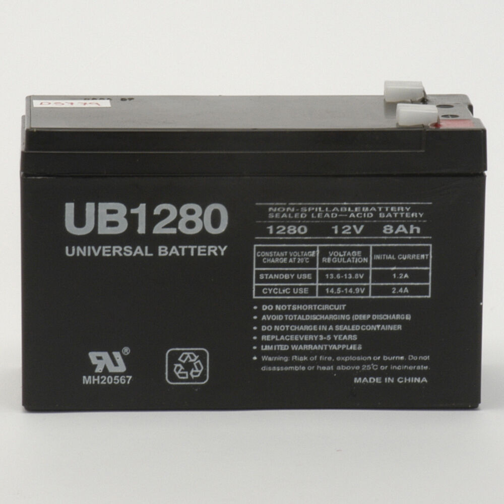Upg 12v 8ah F2 Replacement For Cyberpower Standby Series