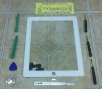 White Apple iPad 2 Touch Screen Glass Digitizer Replacement + 7 piece tool kit