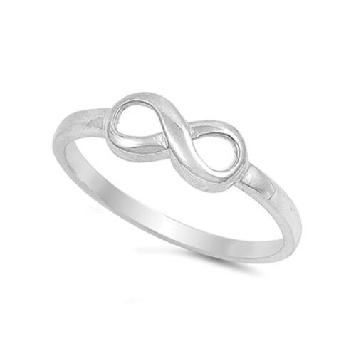 925 sterling silver infinity knot promise band ring size
