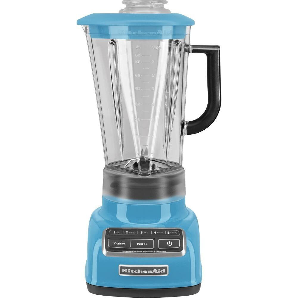 kitchenaid diecast 5 speed blender ksb1575cl diamond vortex blade crystal blue ebay. Black Bedroom Furniture Sets. Home Design Ideas