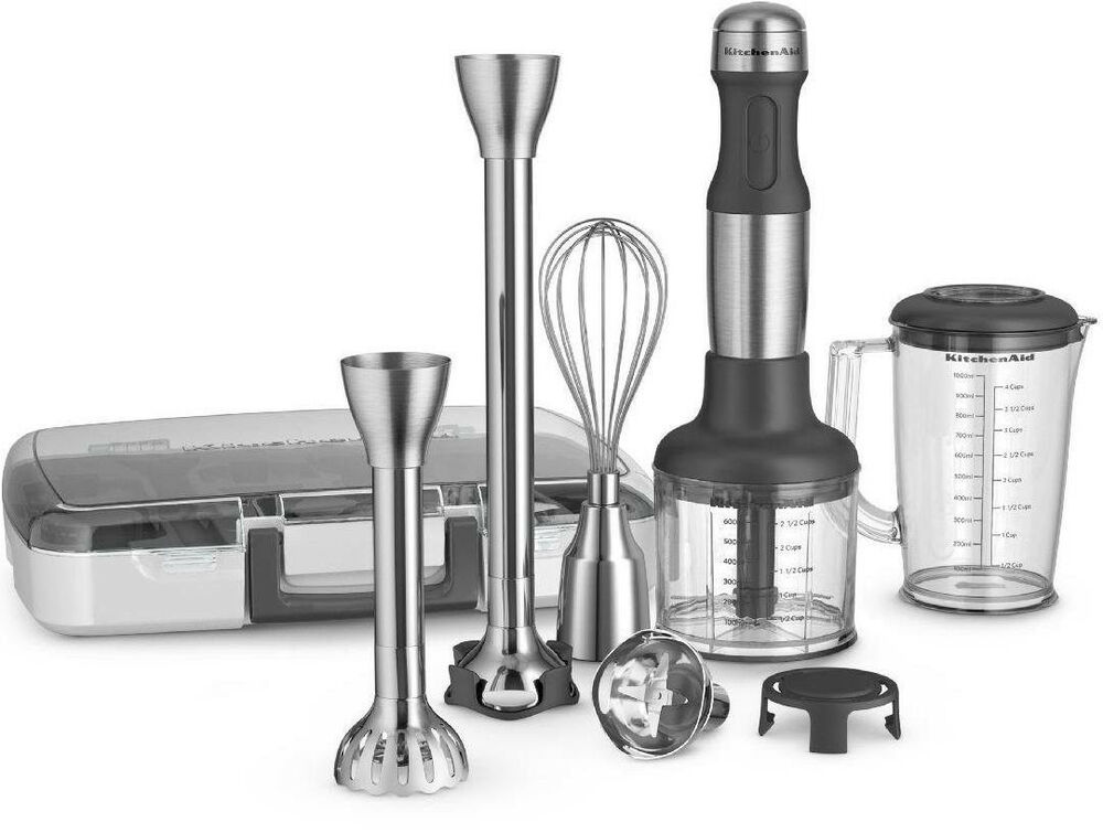 New All Metal Kitchenaid 5 Speed Immersion Hand Blender