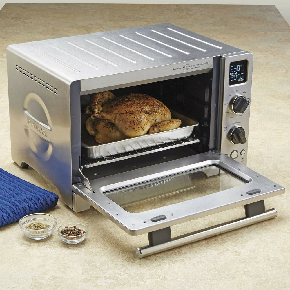 Kitchenaid Countertop Convection Oven Kco273ss : New KitchenAid Digital Stainless Steel Convection Oven KCO273SS Even ...