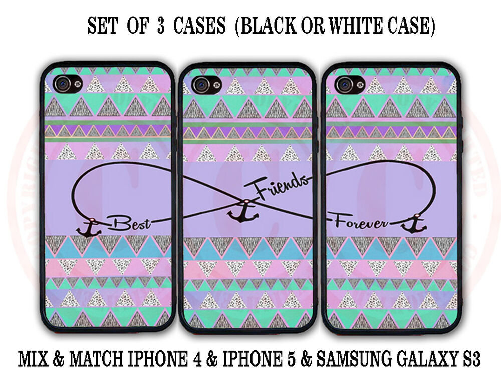 best friend iphone cases purple mint aztec bff best friends 3 cases for 9118