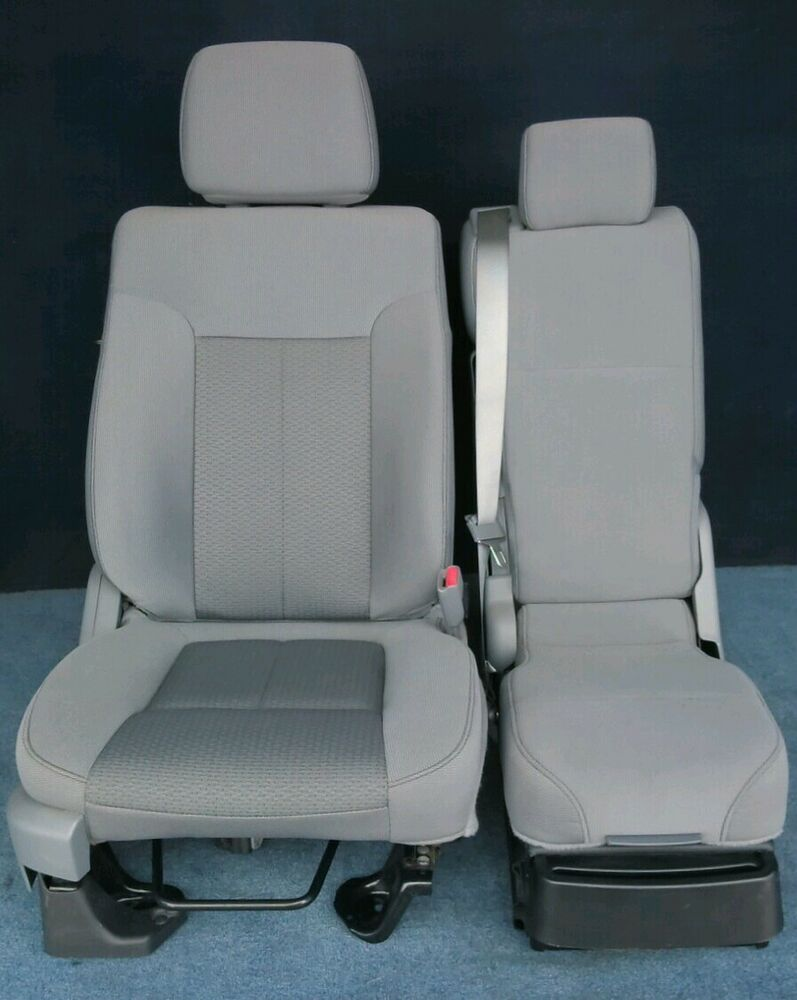 2012 2011 ford f150 front seats gray cloth ebay. Black Bedroom Furniture Sets. Home Design Ideas
