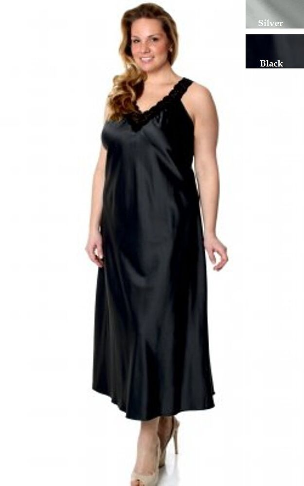PLUS SIZE LINGERIE LONG GOWN NIGHTGOWN 1X / 2X 3X / 4X | eBay