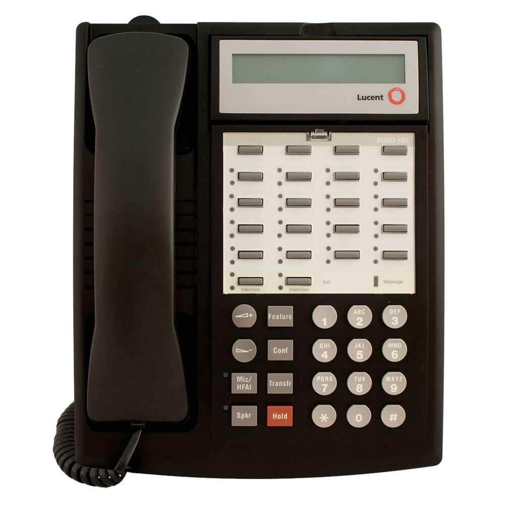 avaya lucent partner euro 18d black telephone ebay. Black Bedroom Furniture Sets. Home Design Ideas