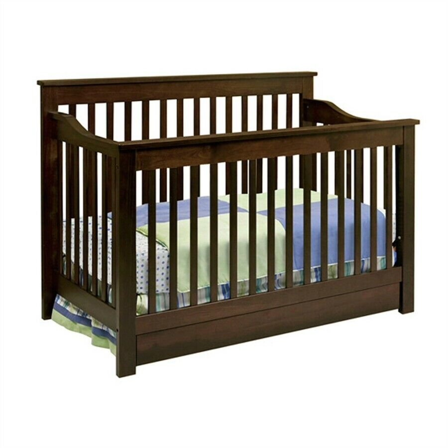 piedmont 4 in 1 fixed side convertible crib w toddler. Black Bedroom Furniture Sets. Home Design Ideas