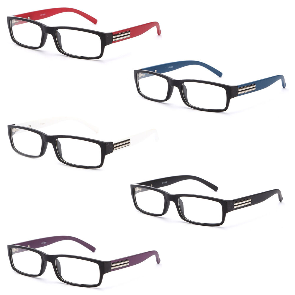 Blue Black Glasses Frames : Glasses Clear Lens Eyewear Mens Fashion Frames Optical ...