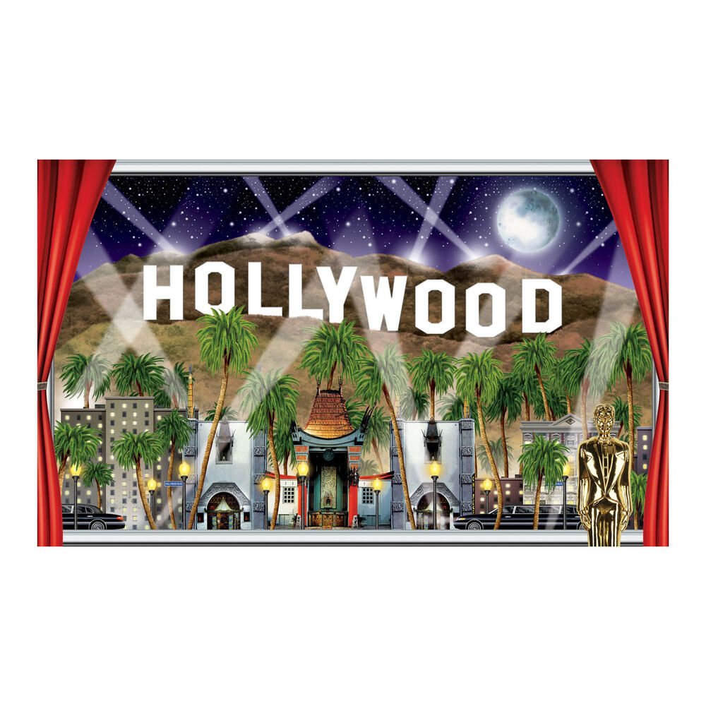Hollywood sign movie night vip awards party decoration for Hollywood party dekoration